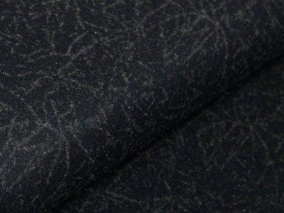 Jackenstoff Wolloptik - Cracks - schwarz