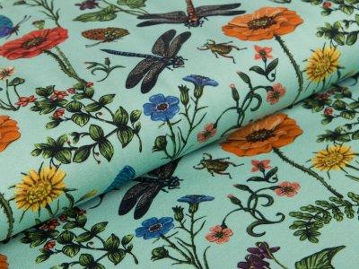 Blumen mint Jersey