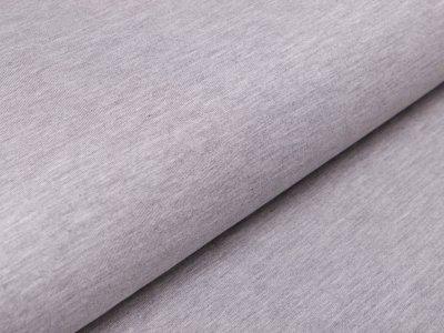 Bambus Sweat French Terry Strickstoff - meliert helles grau