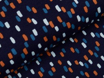 Angerauter Sweat Softtouch - Pinselstriche - nachtblau