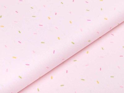 Webware Baumwolle Popeline mit Glitzer - mini Streifen - rosa