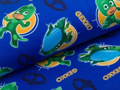 angerauter Sweat French Terry Swafing -Entertainment One PJ Masks - Gekko - blau
