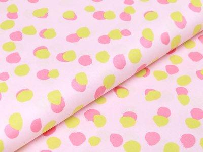 Webware Baumwolle Popeline - verschobene Tupfen - zartes rosa