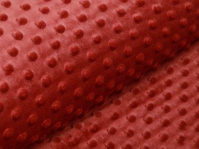 Wellnessfleece Minky mit Noppenprägung - uni terrakotta