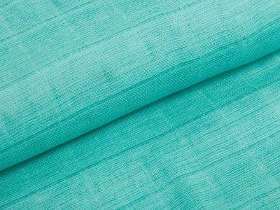 Musselin Baumwolle  - erhabenes Karomuster - mint