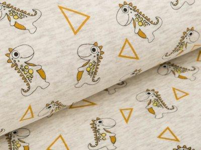 Alpenfleece - Dinos - meliert beige