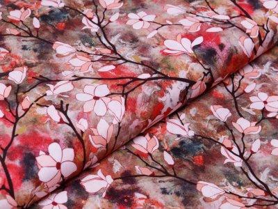 Webware Viskose Radiance Digitaldruck - Rosella by Penelope - Mandelblüten - aquarell
