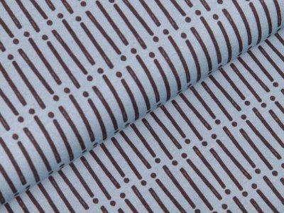 Sweat French Terry Swafing - Mini Forest - Streifen und Punkte - rauchblau
