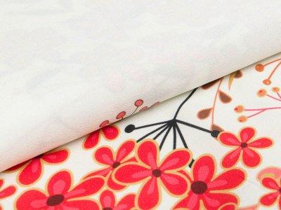 Webware Viskose Swafing Palina - Blumenstrauß und Pusteblumen - weiß
