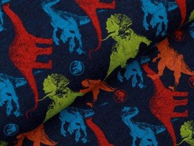 Jersey Jurassic World - Dinos - meliert dunkles blau
