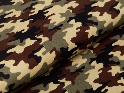 Webware Popeline Baumwolle - Camouflage - braun/grün