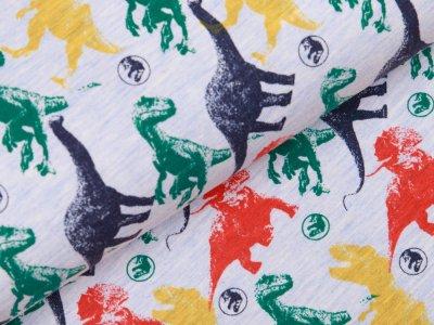 Jersey  Jurassic World - Dinos -  meliert grau