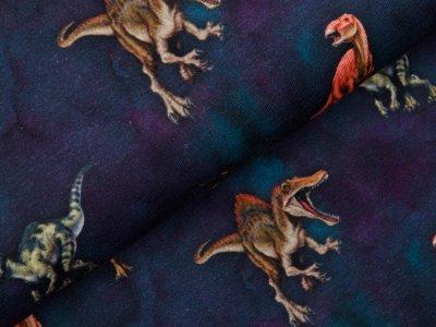 Jersey Digitaldruck Jurassic World - Dinos - dunkles blau