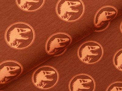 Jersey Digitaldruck Jurassic World - Dinos im Kreis - rostbraun