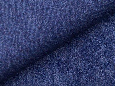 Sweat French Terry Digitaldruck - Jeansoptik - jeansblau