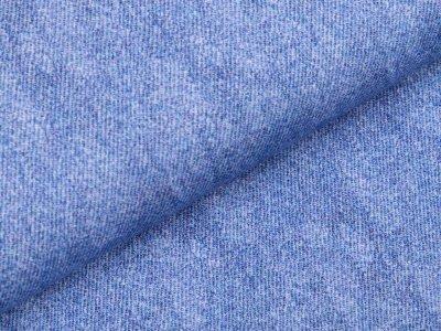 Sweat French Terry Digitaldruck - Jeansoptik - helles jeansblau