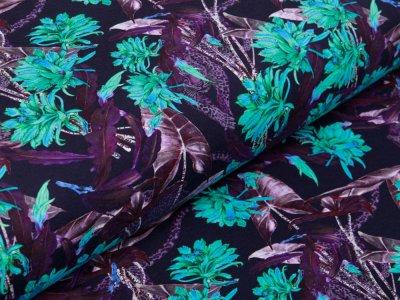 Jersey Stenzo - Jaguare im Dschungel - dunkles lila