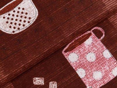 Webware Baumwolle Patchwork - Coffee und Milk - braun