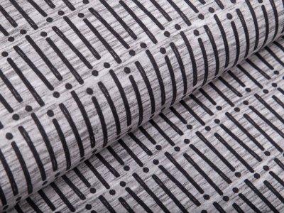 Sweat French Terry Swafing - Mini Forest - Streifen und Punkte - grau meliert