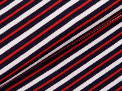 Sweat  - Streifen  - weiß / blau