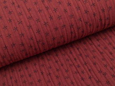 Musselin Baumwolle Triple Gauze - Sterne - terra