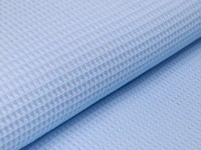 Waffelpiqué Baumwolle - Waffeloptik - helles blau