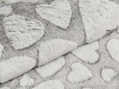 Wellnessfleece Snowtop - Herzen - anthrazit