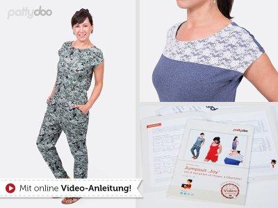 Papierschnittmuster pattydoo Jumsuit - Shirt & Hose JOY Damen