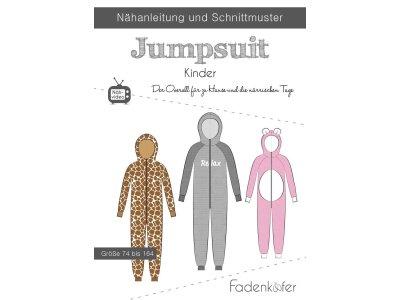 Papier-Schnittmuster Fadenkäfer - Jumpsuit - Kinder