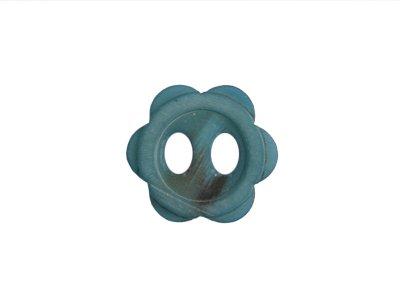 Blumen-Knopf marmoriert ca. 30mm - blau