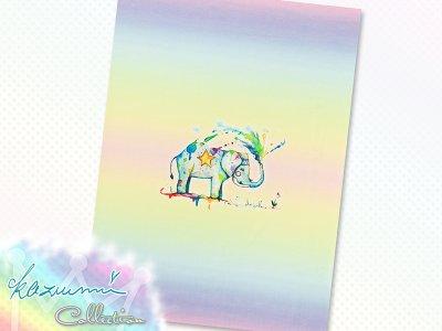 Jersey Eigenproduktion KDS - KaZuMi Collection #05 - Elefant - 50 cm x 70 cm Panel