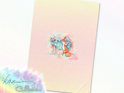 Jersey Eigenproduktion KDS - KaZuMi Collection #18 - Sweetgirl & Fox - 50 cm x 70 cm Panel