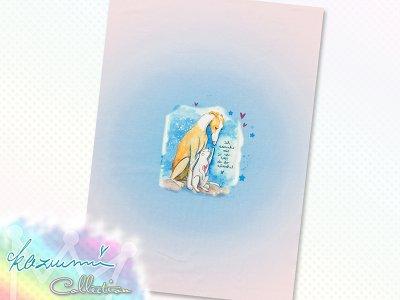 Jersey Eigenproduktion KDS - KaZuMi Collection #19 - ich wünsche mir - 50 cm x 70 cm Panel