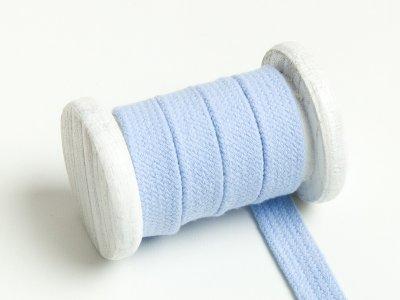 Flache Baumwoll Kordel / Band Hoodie / Kapuze 13 mm breit hellblau