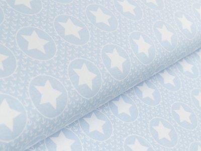 """Jersey """"Sidney Bipp Design®"""" - Sterne in Kreisen und kleine Anker - helles blau"""