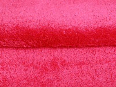 Wellnessfleece Teddy Zottel Doubleface - uni pink