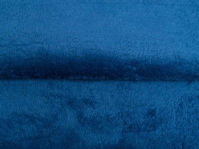 Wellnessfleece Teddy Zottel Doubleface - uni tintenblau