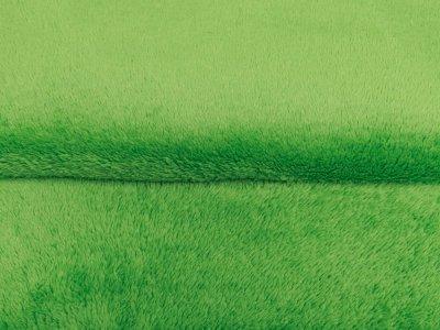 Wellnessfleece Teddy Zottel Doubleface - uni grasgrün