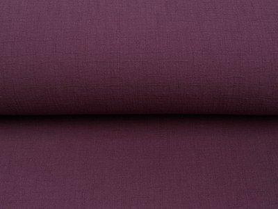 Bambus Musselin Baumwolle Double Gauze Snoozy - Leinenoptik - uni violett