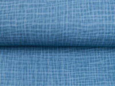 Musselin Double Gauze Dirty Wash Snoozy - Uses Look - jeansblau