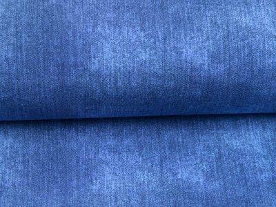 Sweat French Terry in Jeansoptik - uni dunkles blau