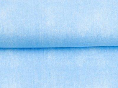 Sweat French Terry in Jeansoptik - uni helles blau