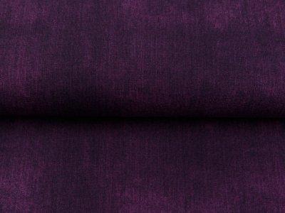 Sweat French Terry in Jeansoptik - uni violett