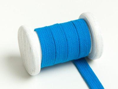 Flache Baumwoll Kordel / Band Hoodie / Kapuze 13 mm breit dunkles türkisblau