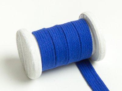 Flache Baumwoll Kordel / Band Hoodie / Kapuze 13 mm breit royalblau