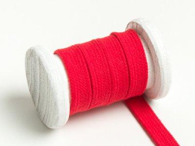 Flache Baumwoll Kordel / Band Hoodie / Kapuze 13 mm breit rot