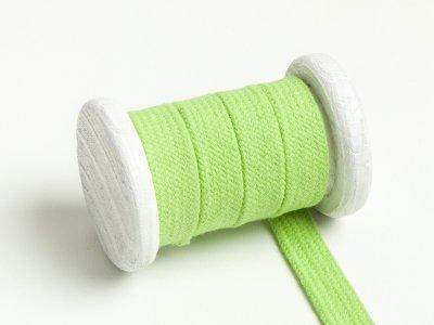 Flache Baumwoll Kordel / Band Hoodie / Kapuze 13 mm breit lime
