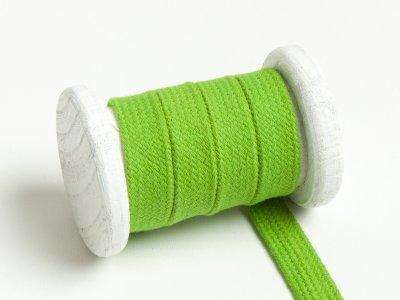 Flache Baumwoll Kordel / Band Hoodie / Kapuze 13 mm breit apfelgrün