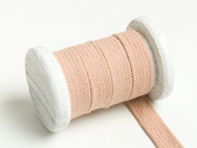Flache Baumwoll Kordel / Band Hoodie / Kapuze 13 mm breit beige