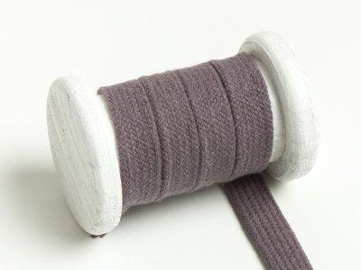 Flache Baumwoll Kordel / Band Hoodie / Kapuze 13 mm breit dunkelgrau